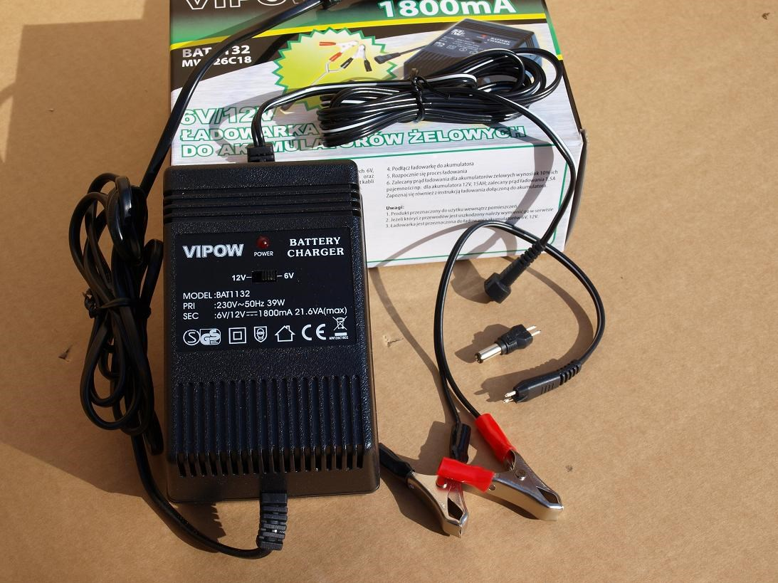Nabíječka gelových baterií 6V/12V (1800mA)