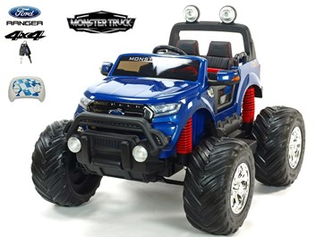 Dětské elektrické autíčko  džíp Ford Ranger Monster Truck 4x4  , modrá metalíza SLOŽENÝ