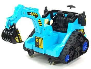 Dětský elektrický bagr modrý SLOŽENÝ