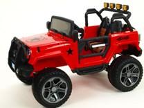 Dětské el. autíčko - džíp Wrangler s 2,4G Do, náhon všech 4 kol -  WXE1688.RED  POSLEDNÍ 3 KUSY