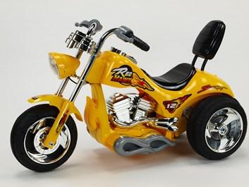 Dětská elektrická motorka Red Hawk žlutá SLOŽENÁ
