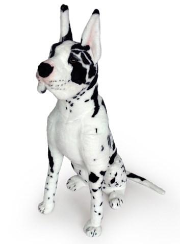 Plyšový sedící pes Německá doga