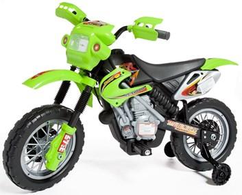 Dětská motorka cross- zelená SLOŽENÁ