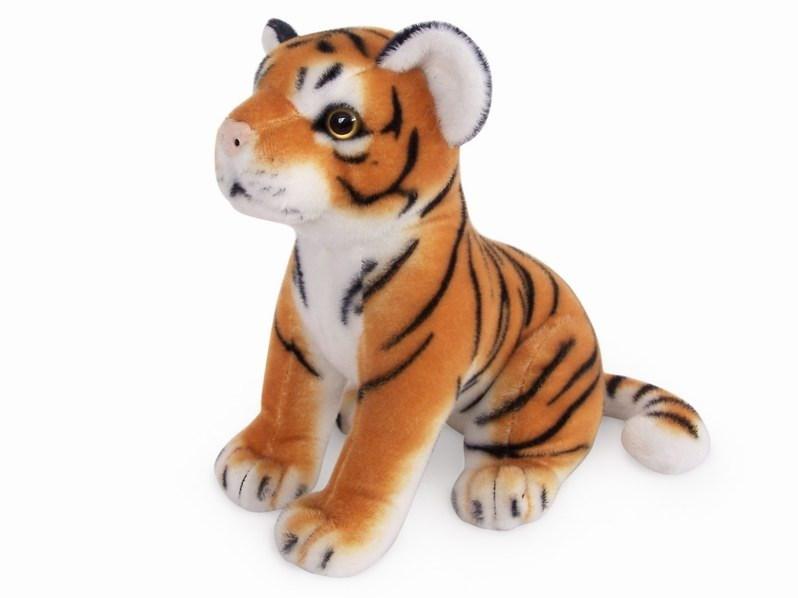 Plyšový tygr žlutý sedící  PC-TR20T