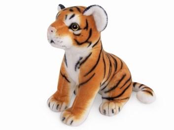Plyšový tygr žlutý sedící