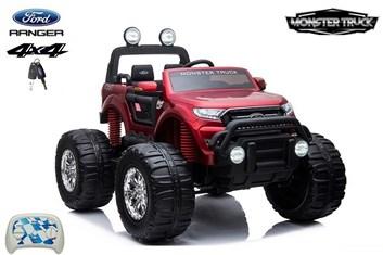 Dětské elektrické autíčko  džíp Ford Ranger Monster Truck 4x4 červená metalíza SLOŽENÝ