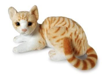 Plyšová ležící  kočka  domácí zrzka