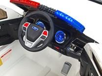 Dětské el. autíčko Policie super speed bílá