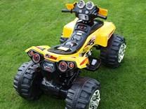 Dětská elektrická čtyřkolka FD Sport žlutá