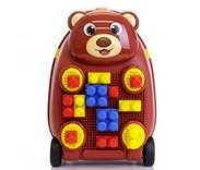 Dětský cestovní kufr Medvídek se stavebnicí