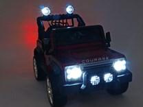 Dětské elektrické autíčko Džíp Courage s 2,4G DO -DKF006LAKČV-světla