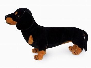 Plyšový stojící  pes Jezevčík