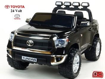 Dětské elektrické auto Toyota Tundra 24V s 2.4G DO, pro 2 děti , černá SLOŽENÁ