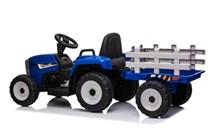 Dětský el.traktor s vlekem  s 2,4G dálkovým ovladačem - modrý
