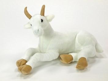 Plyšová koza ležící bílá