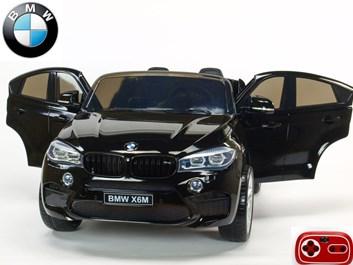 Dětské elektrické autíčko BMW X6M dvoumístné s 2,4G DO, černé