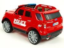Dětské el. autíčko Policie super speed červená