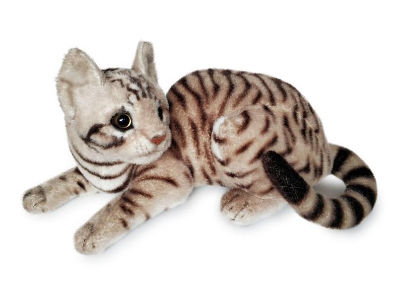 Plyšová kočka tygří ležící