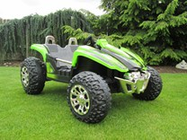 Dětské autíčko Buggy pro 2 děti zelená