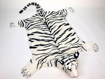 Plyšová předložka - tygr bílý - XL