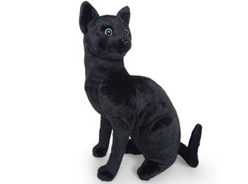Plyšová sedící kočka černá