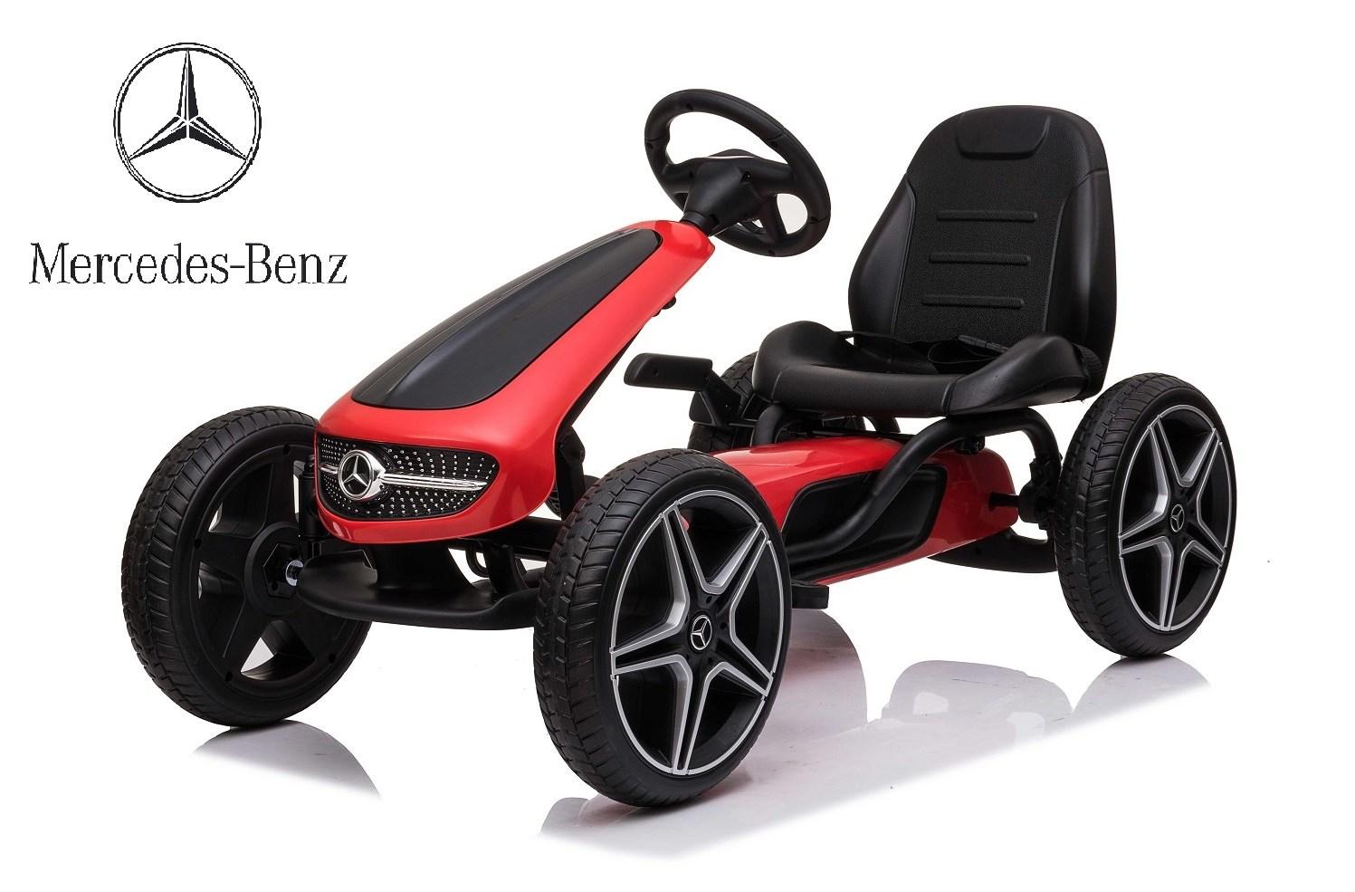 Dětský šlapací  Mercedes-Benz  Pedal Go-Kart - červená