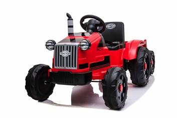 Dětský elektrický traktor s 2,4G DO  s vlekem , červený