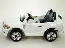 Dětské autíčko pro 2 děti s DO + FM bílá