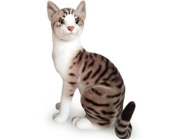 Plyšová sedící kočka Májová 26 cm