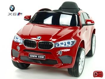 Dětské elektrické autíčko  SUV BMW X6M jednomístné červené