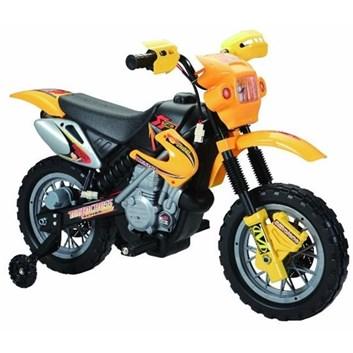Dětská motorka cross- žlutá SLOŽENÁ
