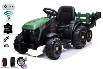 Dětský elektrický farmářský traktor s vlekem  a 2,4G dálkovým ovladačem , zelený - POSLEDNÍ KUS