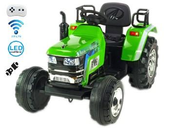 Největší dětský elektrický traktor  BLAZIN  s 2,4G dálkovým ovladačem - zelený