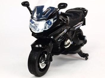 Dětská silniční závodní motorka 12V černá
