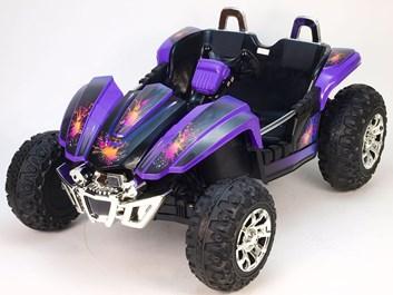Dětské autíčko Buggy pro 2 děti fialová
