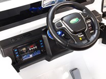 Dětské elektrické autíčko Džíp Courage s 2,4G DO -DKF006.white