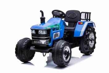 Největší dětský elektrický traktor  BLAZIN  s 2,4G dálkovým ovladačem -modrý