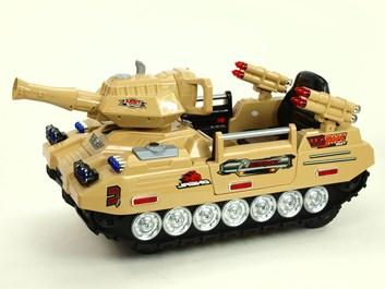 Dětský elektrický tank s DO a FM    žlutá