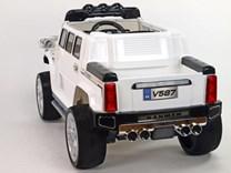 Mohutný elektrický džíp styl H2 Extender LUX s 2,4G dálkovým ovládáním, EVA koly bílá