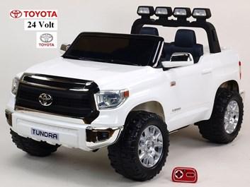 Dětské elektrické auto Toyota Tundra 24V s 2.4G DO, pro 2 děti, bílá SLOŽENÁ 2ks