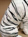 Plyšový tygr bílý sedící - II jakost -  vada tisku