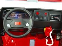 Dětské elektrické autíčko  hasičský vůz 4x4 s 2,4G ,palubní deska