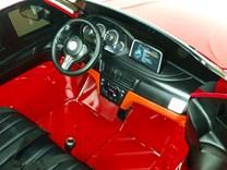 BMW X6M dvoumístné s 2,4G DO, el. brzdou, EVA koly, otvíracími dveřmi, USB, Mp3, voltmetrem, 55cm čalouněnou sedačkou JJ2168L.red