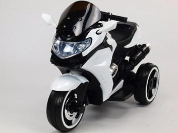 Motorka - Tricykl Dragon s mohutnými výfuky BÍLÁ SLOŽENÁ