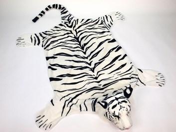 Plyšová předložka - tygr bílý - L