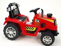 Dětský elektrický traktor 12V s 2,4G dálkovým ovládáním, mohutnými koly -ZP1007RC. červená