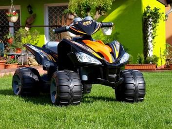 Dětská čtyřkolka Raptor 12V černá