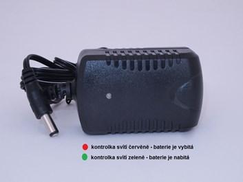 Adapter pro nabíjení dětských vozítek 12V-1000mA s kontrolkou nabíjení