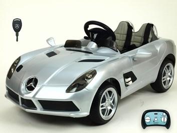 Dětské el. autíčko Mercedes-Benz SLR Mc Laren Stirling Moss s 2.4G bluetooth DO  stříbrná