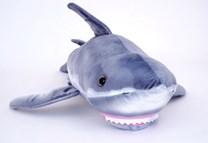 Plyšový žralok bílý
